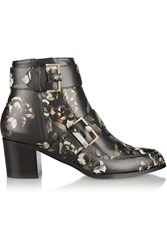 Jason Wu Floral Print Leather Ankle Boots