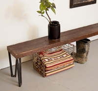 Bench 5' Long Reclaimed Wood And Solid Steel Von Dylangrey Auf Etsy