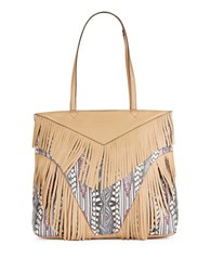 Aimee Kestenberg Geneva Fringed Leather Tote Tribal