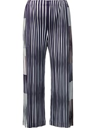 Issey Miyake Pleats Please By Striped Culottes Black