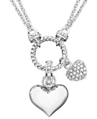 Victoria Townsend Diamond Heart Pendant Necklace In Sterling Silver 1 4 Ct. T.W.