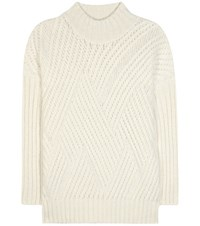 Closed Alpaca And Wool Blend Knitted Sweater White
