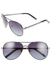 Women's Polaroid Eyewear 59Mm Polarized Aviator Sunglasses Dark Ruthenium