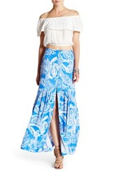 Free People Smooth Sail Maxi Skirt Blue