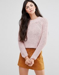 Lavand Pink Cable Knit Jumper Pk Pink
