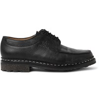 Yuketen Heschung Pebble Grain Leather Derby Shoes Black