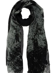 Lost And Found Tonal Print Scarf Grey