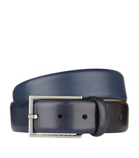 Boss Smooth Nubuck Belt Unisex Navy