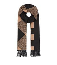 Burberry Shoes And Accessories Reversible Check Cashmere Scarf Female Camel