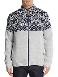 Buffalo David Bitton Wheeler Zip Sweater Light Heather