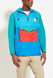 Forever 21 All Good Venice Windbreaker Teal Blue