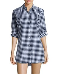 Tommy Bahama Checked Long Sleeve Shirt Blue
