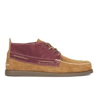 Sperry Men's A O 2 Eye Wedge Suede Chukka Boots Tan Burgundy