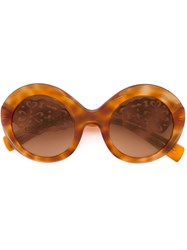 Dolce And Gabbana Oversized Frame Sunglasses Brown