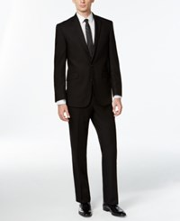 Kenneth Cole Reaction Black Solid Slim Fit Suit