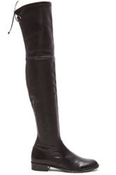Stuart Weitzman Stretch Leather And Neoprene Lowland Boots In Black