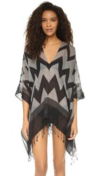 Lotta Stensson Zigzag Reversible Wool Tunic Top Black White