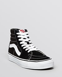 Vans Unisex Lace Up High Top Sneakers Sk8 Black