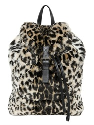 Moschino Printed Faux Fur Backpack
