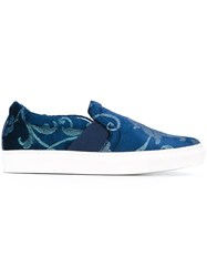 Lanvin 'Pull On' Slip On Sneakers Blue
