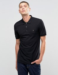 Farah Polo Shirt In Regular Fit In Black Black