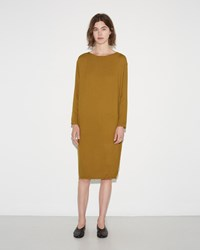 Black Crane Slim Dress Gold Brown