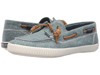 Sperry Sayel Away Hemp Canvas Dusty Teal Women's Moccasin Shoes Green