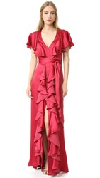Temperley London Luna Maxi Dress Poppy