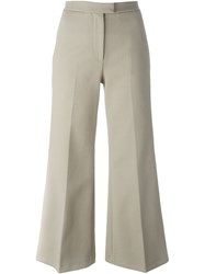 Msgm Flared Trousers Nude And Neutrals