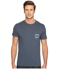 Rvca Double Hex Pocket Tee Midnight Men's T Shirt Navy
