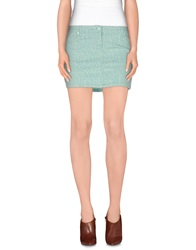 Gaudi' Denim Skirts Light Green