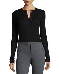 Atm Anthony Thomas Melillo Long Sleeve Engineered Henley Top Women's