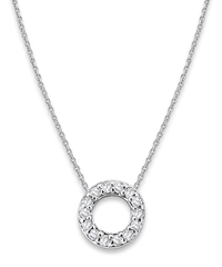 Kc Designs White Gold Diamond Letter O Necklace