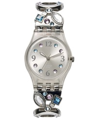 Swatch Watch Women's Swiss Menthol Tone Stainless Steel Link Bracelet 25Mm Lk292g