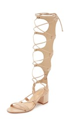 Schutz Hope Tall Gladiator City Sandals Light Wood