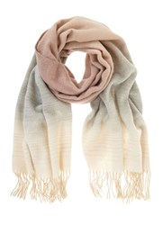Mint Velvet Blush Winter Ombre Scarf Pink