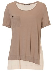 Betty Barclay Layered T Shirt Taupe Beige