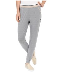 Zobha Slim Jogger Ankle Pants W Double Elastic Band And Stripe Elastic Griffin Women's Workout Gray