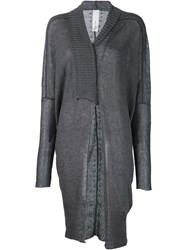 Isabel Benenato Asymmetric Cardigan Grey