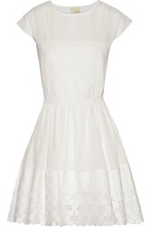 Band Of Outsiders Lace Trimmed Cotton Gauze Dress White