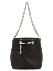 Saint Laurent Classic Baby 'Emmanuelle' Chain Bucket Back Black