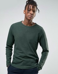 Selected Homme Long Sleeve Top With Raglan Sleeve Green