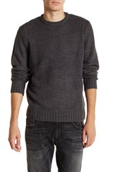 Weatherproof Honeycomb Crew Neck Sweater Gray