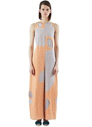 The Autonomous Collections Wide Leg Patchwork Jumpsuit Orange