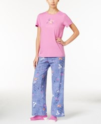 Hue Knit Pajama Set With Socks Pastel Relaxation
