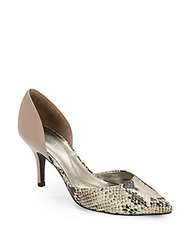 Tahari Coco Snake Print D'orsay Point Toe Pumps