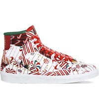 Nike Blazer Mid Candy Pattern Leather Trainers Red Metallic Gold Qs