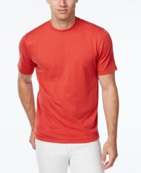 Tasso Elba Performance Uv Protection T Shirt Only At Macy's Guava Red