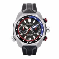 Brera Orologi Pro Diver Chronograph Watch Stainless Steel Case Black Dial And Genuine Rubber Strap