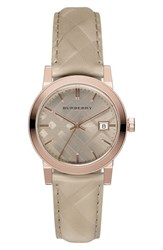 Burberry Women's 'The City' Leather Strap Watch 34Mm